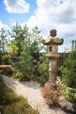 Фонарик камня сада Японии Стоковое Изображение RF