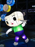 Фонарик мальчика китайский - средний фестиваль осени стоковые изображения
