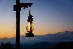 Фонарик на заходе солнца Стоковая Фотография RF