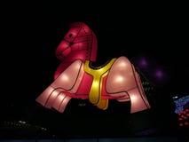 Фонарик лошади китайский - средний фестиваль осени стоковая фотография rf