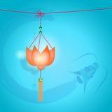 фонарик празднества осени китайский средний Стоковая Фотография