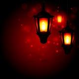 Фонарик - предпосылка приветствию Рамазана Kareem Стоковые Изображения RF