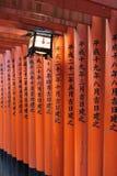 Фонарик - путь торусов в Fushimi Inari Стоковое Изображение
