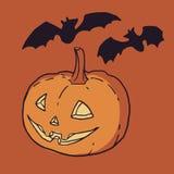 Фонарик тыквы вектора хеллоуина Стоковые Фото