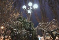 Фонарик улицы в ноче Стоковое Изображение