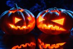 Фонарик jack тыкв хеллоуина головной Стоковое Изображение RF