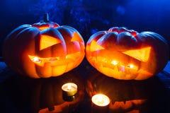 Фонарик jack тыкв хеллоуина головной Стоковые Фото