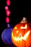 фонарик Jack-O' и волшебное зелье Стоковое фото RF