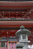 фонарик kiyomizudera вне виска pagoda Стоковое Фото