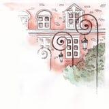 Фонарные столбы на предпосылке кирпичного здания Стоковое Фото