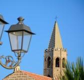 Фонарный столб в Alghero Стоковая Фотография RF