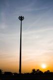 Фонарный столб к Солнцю Стоковое фото RF