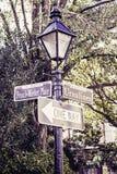Фонарный столб Нового Орлеана Стоковые Фотографии RF