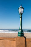 Фонарный столб променада пляжа полета в Сан-Диего стоковые изображения