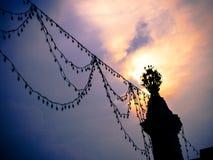 Фонарный столб украшения Стоковое Изображение