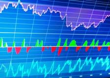 Фондовая биржа и другое темы финансов Концепция данным по финансов стоковое изображение