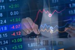 Фондовая биржа и финансовая предпосылка концепции Стоковые Изображения RF