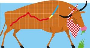 Фондовая биржа Bull иллюстрация штока