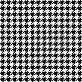 Фоновое изображение картины безшовного houndstooth черно-белое Стоковые Фото