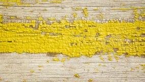 Фоновое изображение старых желтых деревянных доск Текстура, предпосылка Стоковые Изображения