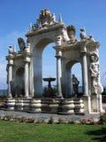 Фонтана del Gigante, Immacolatella, фонтан гиганта в Неаполь-Италии Стоковые Изображения RF