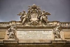 Фонтана di Trevi в Риме Италии Стоковое Фото