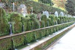 100 фонтанов в d'Este виллы Стоковое Фото