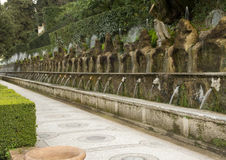 100 фонтанов в ` Este виллы d Стоковое Изображение