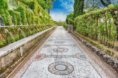 100 фонтанов, d'Este виллы, Tivoli, Италия Стоковая Фотография RF