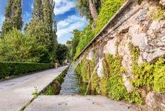 100 фонтанов, d'Este виллы, Tivoli, Италия Стоковые Фотографии RF