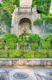 100 фонтанов, d'Este виллы, Tivoli, Италия Стоковое Изображение RF