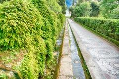 100 фонтанов, d'Este виллы, Tivoli, Италия Стоковое фото RF