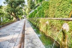 100 фонтанов, d'Este виллы, Tivoli, Италия Стоковые Изображения
