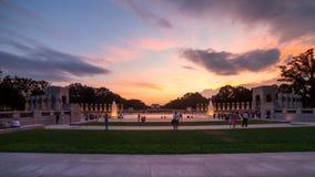Фонтаны Второй Мировой Войны ориентир ориентира мемориальные на национальном моле внутри стоковые изображения rf