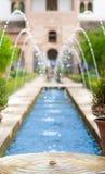 Фонтаны в саде Alhambra в Испании, европе. Стоковые Изображения