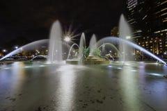 Фонтаны круга Logan Филадельфии Стоковая Фотография