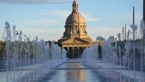 Фонтаны на правительстве Альберты видеоматериал