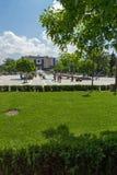 Фонтаны перед национальным дворцом культуры в Софии, Болгарии Стоковая Фотография