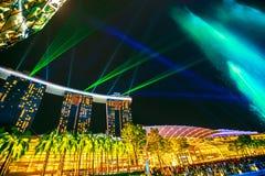 Фонтаны танцев Сингапура стоковые изображения rf