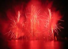 фонтаны феиэрверков Стоковая Фотография
