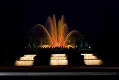 фонтаны barcelona волшебные Стоковое Изображение