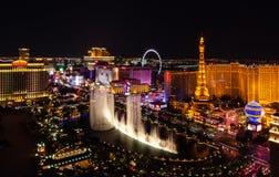 Фонтаны Bellagio в Лас-Вегас стоковое изображение rf