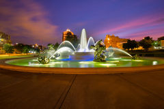 Фонтаны Kansas City Стоковые Фотографии RF