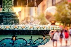 Фонтан аркады Аделаиды на моле Rundle Стоковая Фотография