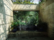 Фонтан ботанического сада Далласа Стоковое Изображение RF