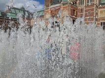 Фонтан в Амстердаме Стоковое фото RF