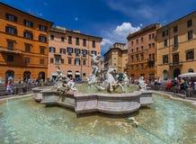 Фонтан в аркаде Navona - Риме Италии стоковые фото