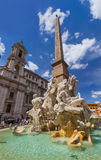 Фонтан в аркаде Navona - Риме Италии стоковые изображения