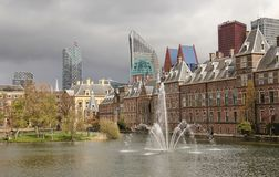 Фонтан в Гааге, Голландии стоковая фотография