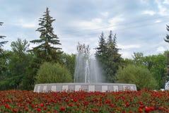 Фонтан в городе Balashov Стоковая Фотография RF